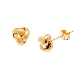 18ct-Gold-Knot-Stud-Earrings-7mm-ESA00463
