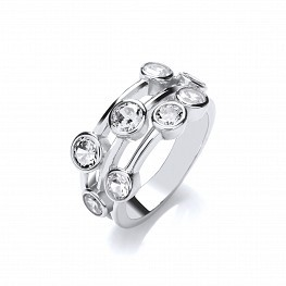 Silver-Cubic-Zirconia-Sprinkle-Ring-RS00030