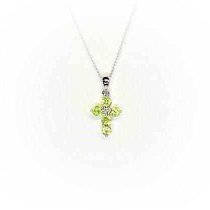 White-Gold-Diamond-&-Peridot-Cross-PC00333